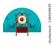 asian gong instrument | Shutterstock .eps vector #1184249659