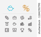 capital icons set. way to... | Shutterstock . vector #1184250790