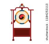 asian gong instrument | Shutterstock .eps vector #1184252113