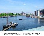 amsterdam netherlands 05 05... | Shutterstock . vector #1184252986