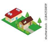 house residences isometric   Shutterstock .eps vector #1184253859