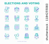 election and voting thin line... | Shutterstock .eps vector #1184255083