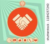 handshake stylized symbol | Shutterstock .eps vector #1184257240