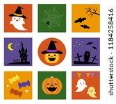 set of halloween icons   vector ...   Shutterstock .eps vector #1184258416