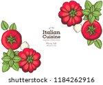 pizza margarita ingredients... | Shutterstock .eps vector #1184262916