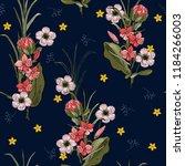 trendy seamless flower pattern. ... | Shutterstock .eps vector #1184266003