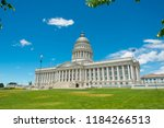 utah state capitol in salt lake ... | Shutterstock . vector #1184266513