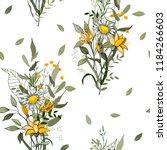 retro wild seamless flower... | Shutterstock .eps vector #1184266603