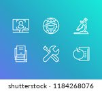 online education icon set and... | Shutterstock .eps vector #1184268076