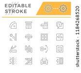 set line icons of window | Shutterstock .eps vector #1184268520