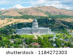 aerial view of utah state... | Shutterstock . vector #1184272303