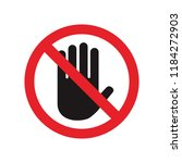 do not touch sign. vector. | Shutterstock .eps vector #1184272903