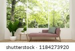 daybed in living room and... | Shutterstock . vector #1184273920