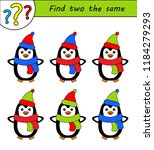 find two the same pictures ... | Shutterstock .eps vector #1184279293