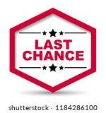 red vector banner last chance   Shutterstock .eps vector #1184286100