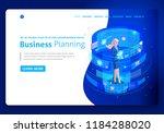 business website template... | Shutterstock .eps vector #1184288020