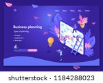 business website template... | Shutterstock .eps vector #1184288023