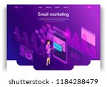 website template design.... | Shutterstock .eps vector #1184288479