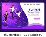 website template business... | Shutterstock .eps vector #1184288650