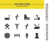 activity icons set with two...
