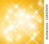 vector glittering stars on... | Shutterstock .eps vector #118429654