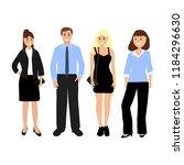 man and beautiful women | Shutterstock .eps vector #1184296630