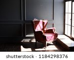 classic vintage armchair. red... | Shutterstock . vector #1184298376