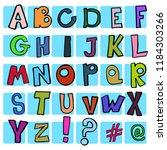 children's vector alphabet with ... | Shutterstock .eps vector #1184303266