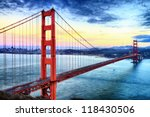famous golden gate bridge  san... | Shutterstock . vector #118430506