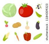 different kinds of vegetables... | Shutterstock .eps vector #1184309323