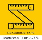 measuring tape icon signs   Shutterstock .eps vector #1184317573