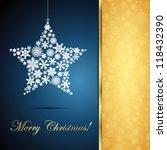 christmas star  snowflake... | Shutterstock .eps vector #118432390