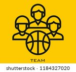 team icon signs | Shutterstock .eps vector #1184327020
