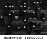 in and out of focus scattered... | Shutterstock . vector #1184330203