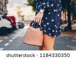 street style fashion details.... | Shutterstock . vector #1184330350