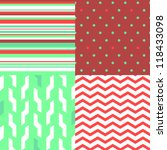 Simple Seamless Pattern In Red...