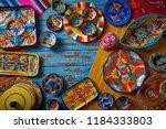 mexican pottery talavera style... | Shutterstock . vector #1184333803
