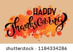 thanksgiving typography... | Shutterstock .eps vector #1184334286