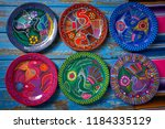 mexican pottery traditional... | Shutterstock . vector #1184335129