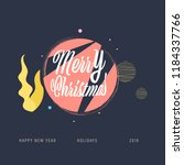 christmas label and christmas... | Shutterstock .eps vector #1184337766