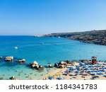 view on the coast of the... | Shutterstock . vector #1184341783
