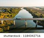 aerial view of bridge over don... | Shutterstock . vector #1184342716