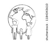 family unity holding hands... | Shutterstock .eps vector #1184343610