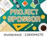 project sponsor vector concept... | Shutterstock .eps vector #1184344270