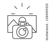 photographic camera taking... | Shutterstock .eps vector #1184345323