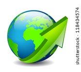 around the world  vector icon