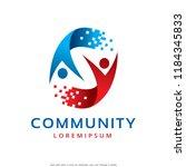 community logo template design... | Shutterstock .eps vector #1184345833