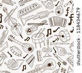 musical instruments   seamless... | Shutterstock .eps vector #118434679