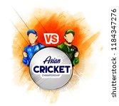 illustration of asian cricket... | Shutterstock .eps vector #1184347276