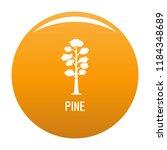 pine tree icon. simple... | Shutterstock . vector #1184348689